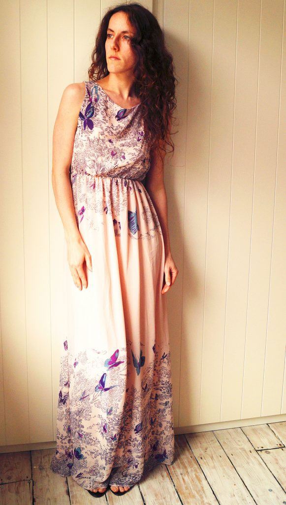 BooHoo Butterfly Maxi Dress Final