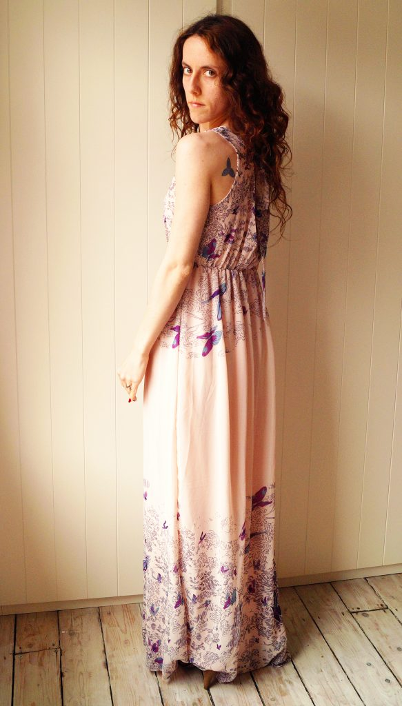 Butterfly Maxi Dress backof