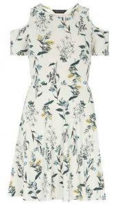 DP white floral dress