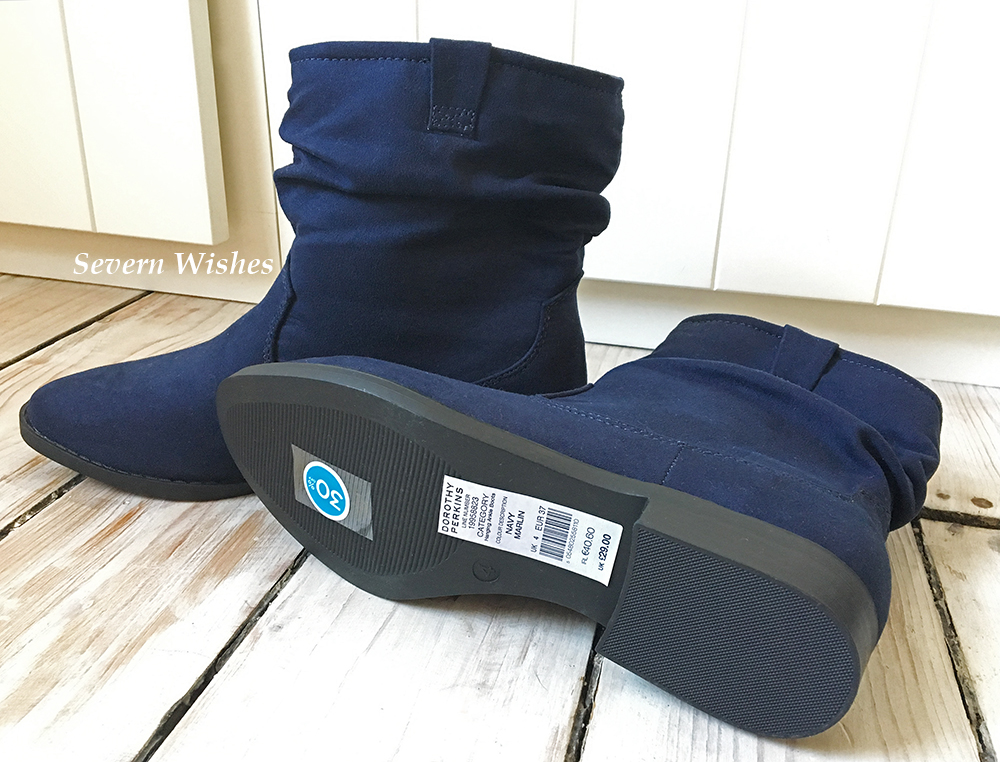 Navy Blue Boots and Accessories from